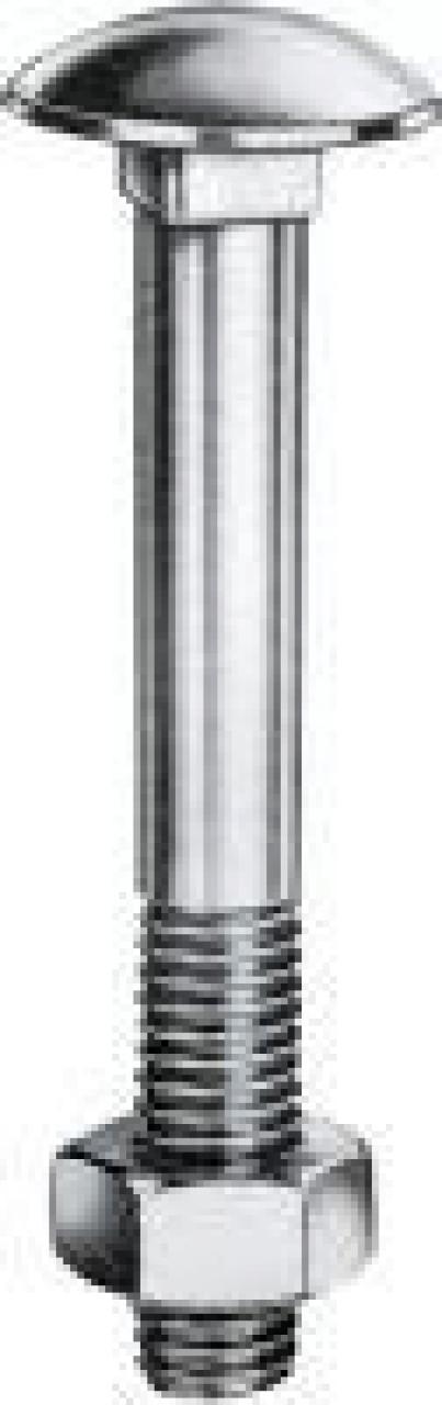 M10x60 DIN 603 8.8 galvanisch verzinkt Flachrundschrauben mit Vierkantansatz Abmessung 100 St/ück