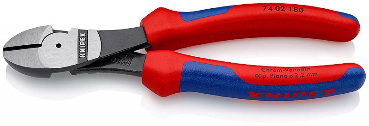 KNIPEX 02 02 180 Kraft-Kombizange schwarz atramentiert mit Mehrkomponenten-H/üllen 180 mm