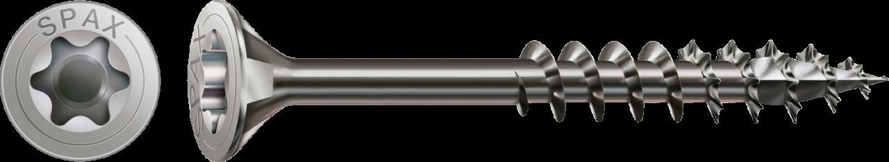 SPAX Schraube Senkkopf T-STAR plus 4CUT MULTI TG Edelstahl A2 4x50mm T20 VE=200